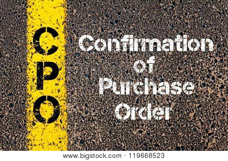 Acronym Cpo Confirmation Of Purchase Order