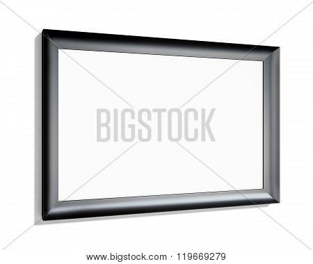 Black frame on a white background. 3d rendering
