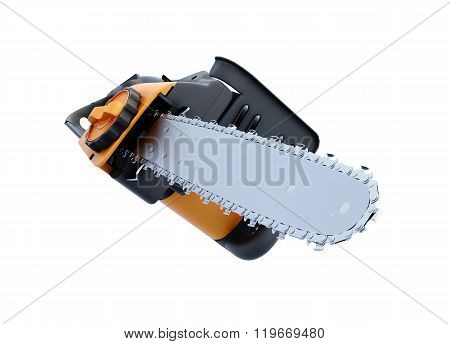 3d image electric saw on white background