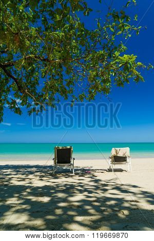 White sand beach in  Khao Lak Thailand