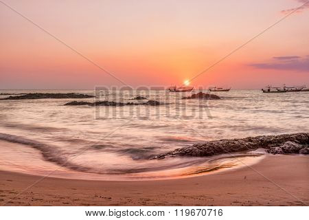 SUnset at Khao Lak beach