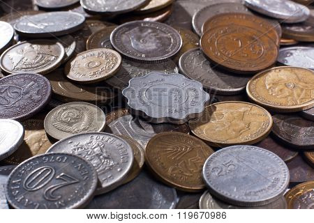 Pile Of Coins (selective Focus Used)