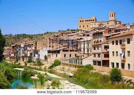 Valderrobles and Matarrana river in Teruel of Spain