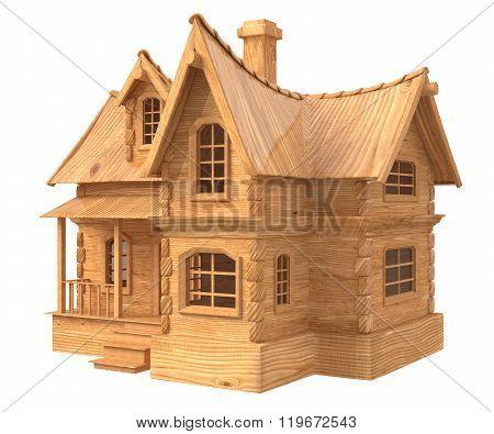 3D House Cartoon Illustration