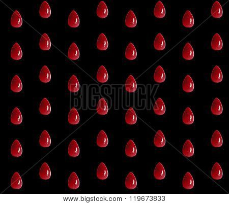 Dark pattern with black translucent drops. Background with 3d effect