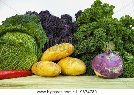 Fresh Organic Market Vegetables On White Background