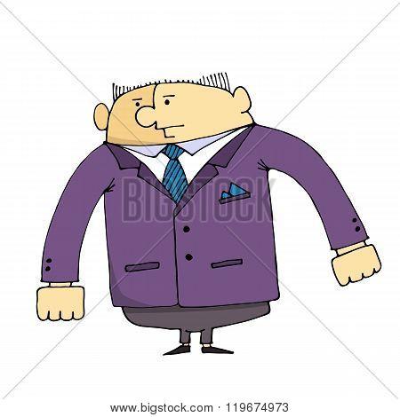 Cartoon Employee Of The Security Company