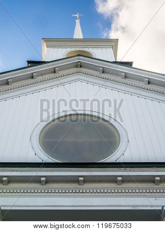 Low-Angle View of Church Gable