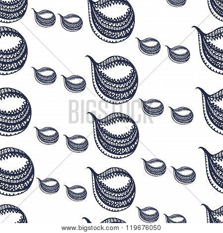 Seamless  Pattern Background Drop Little Big Alternation .