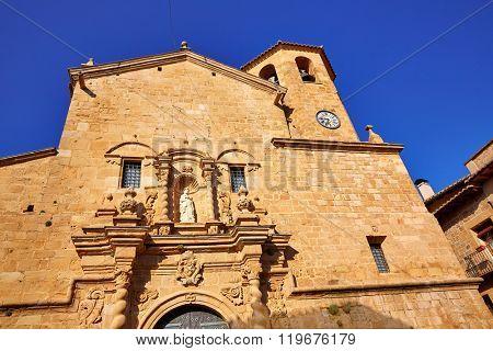 Beceite church in Teruel Spain in Matarrana area