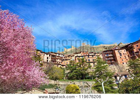 Albarracin medieval town in Teruel world heritage at Spain