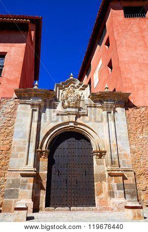 Albarracin medieval town village at Teruel Spain