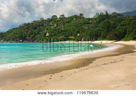 Tropical Beach At Mahe Island Seychelles