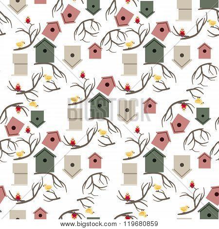 Nesting box seamless pattern