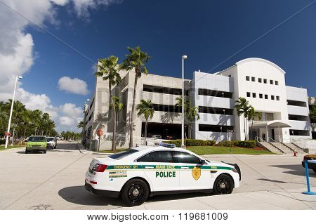 Police Car In Florida