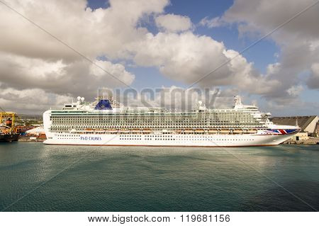 Cruise Ship In Barbados