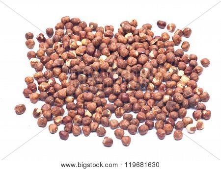 Raw organic hazel nuts