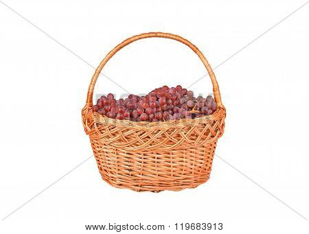 Red Grape In A Wattled Basket