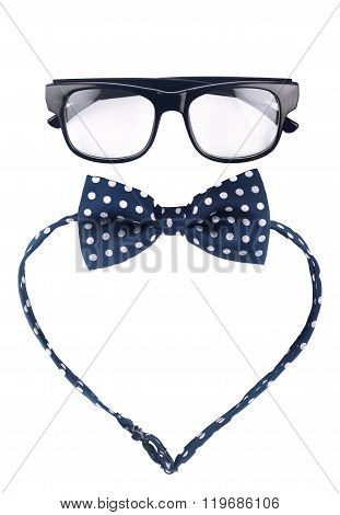 Hipster Glasses And Dotted Bow