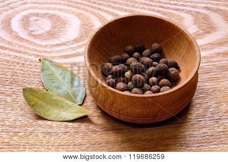 Fragrant black pepper and bay leaves.