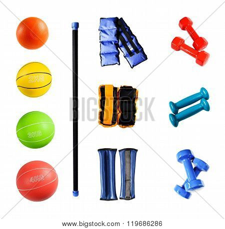 Sports accessories isolated