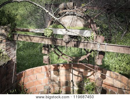 ancient rusty watermill