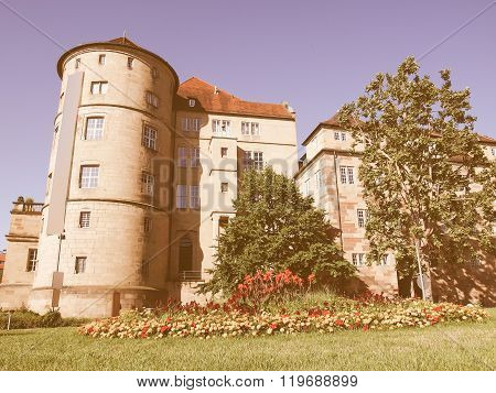 Altes Schloss (old Castle) Stuttgart Vintage