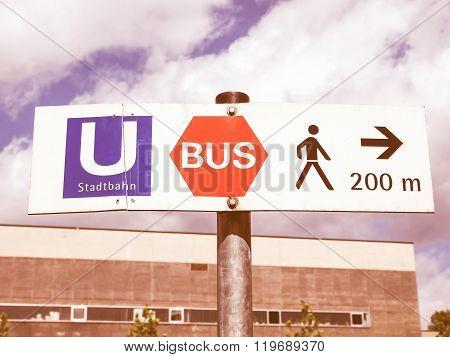 Ubahn Sign Vintage
