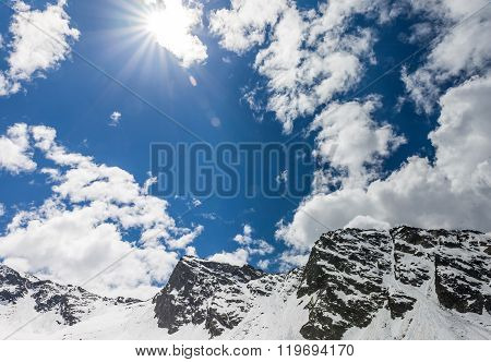 Snow, Mountains And Sun In South Tyrol