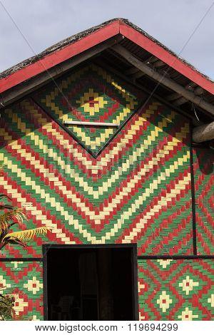Colorful hut on Vanuatu. Port Vila Vanuatu