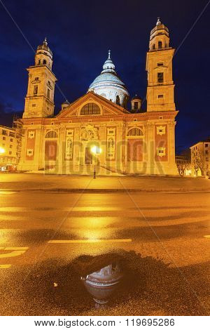 Santa Maria Church in Genoa. Genoa Liguria Italy