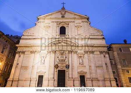 Church of the Holy Name of Jesus on Piazza del Gesu. Rome Lazio Italy.