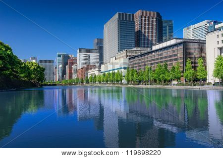 Cityscape of Tokyo City Center at day