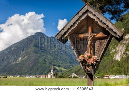Christian wayside shrine in Campo Tures South Tyrol Italy