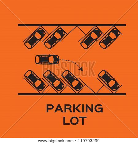 Top View Parking lot design.