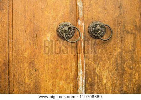 Detail Of An Old Door. Texture Vintage Wood.