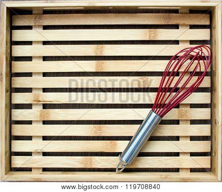 Kitchenware On Wood Board