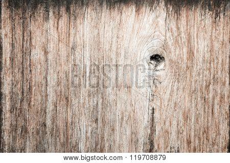 Gnarl wooden plank