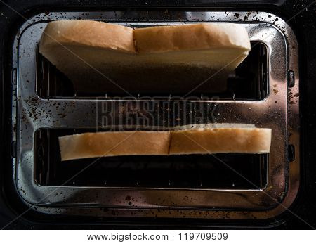 Toast Bread In A Toaster
