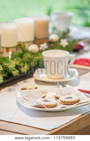 Coffee Table With Christmas Cookies