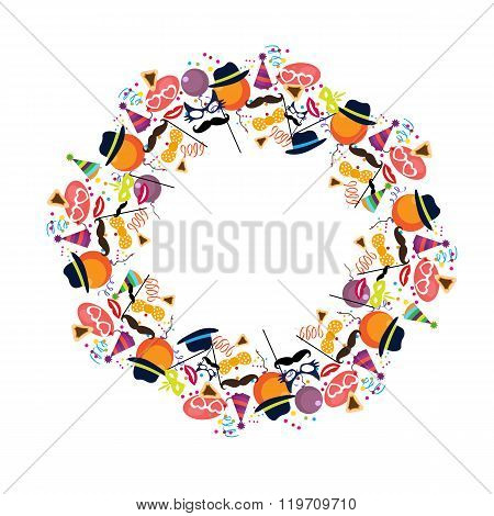 Jewish holiday purim vector background