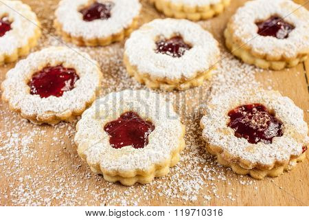 Christmas Cookies Filled With Jam