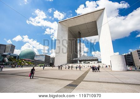 La Defense And The Business District Of The Paris, France