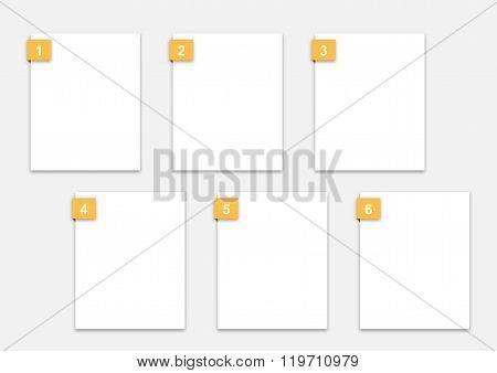 Artist Storyboard 6 Frame Template