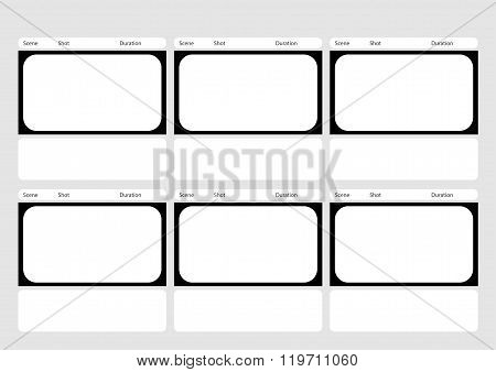 Hdtv Classical Style 6 Frame Storyboard Template