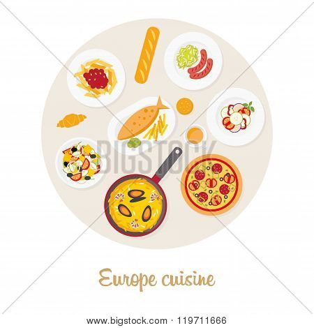 European food set