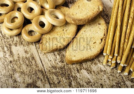 Bagels, Rusks And Sweet Sticks.