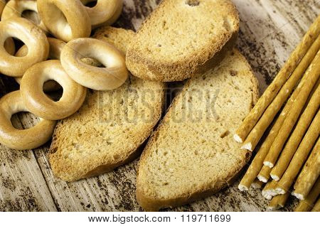 Bagels, Rusks And Sweet Sticks