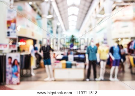 Blurred, de focus shopping mall, clothes shop