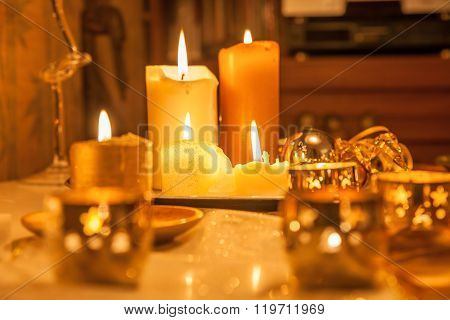 Candles As A Christmas Decoration
